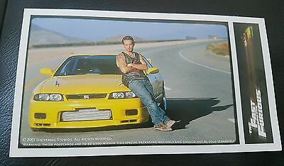The Fast & The Furious Limited Edition Leon Johnny Strong Post Card