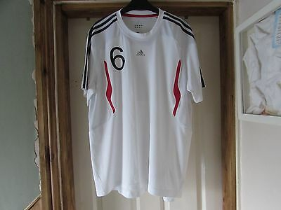 **mens Adidas sports top number 6**size UK L white smart climacool