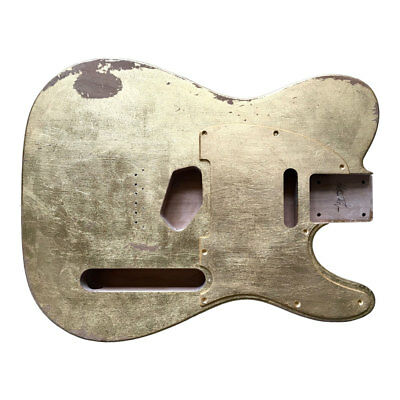 Body guitar CUSTOM ORDER Fender Telecaster style RELIC GOLD LEAF SILVER aged