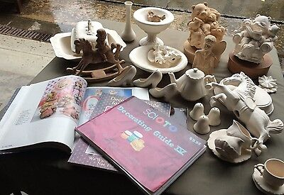 Ceramic Bisque 30+pieces - Catalogues and Decorating Guides