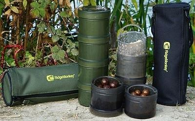Ridge Monkey Modular Hookbait Pots With Carry Case And Internal Glug Cages