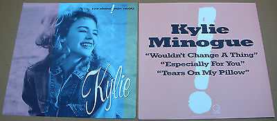 KYLIE MINOGUE Enjoy Yourself 2 Sided Promo 12x12 Poster Flat 1990 Mint-
