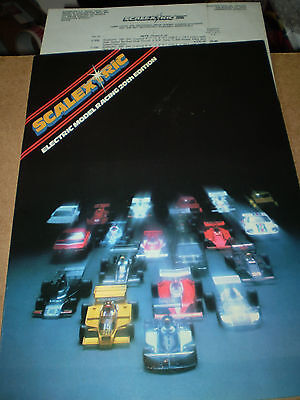 SCALEXTRIC SLOT CAR TOY CATALOGUE 1979 20th EDITION+P/LIST EXCELLENT FOR AGE