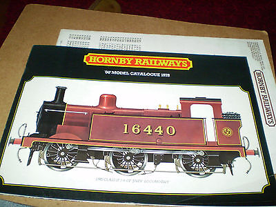 HORNBY MODEL RAILWAYS CATALOGUE 1978 24th EDITION +P/LIST EXCELLENT FOR AGE