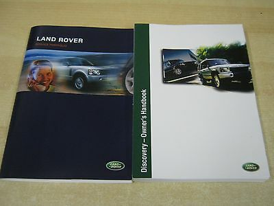 New Landrover Discovery  Owners Manual Handbook ,and New Service Book  2002-2005