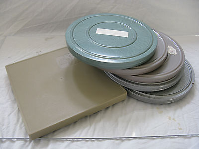 8mm Film Reel Canister collection EMPTY 5 metal 1 plastic Vintage Movie Room