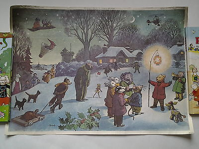Vintage RUPERT BEAR 1949 ANNUAL COVER PRINT / POSTER from Clark Brandt 1971