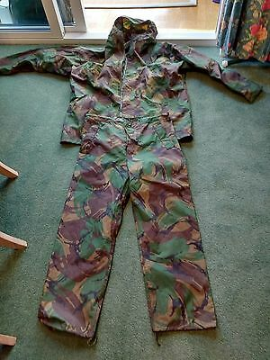 waterproof camouflage jacket and trousers