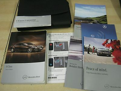 Mercedes  S Class 2009-2013  Owners Manual Handbook Pack  Covers Navigation Oe