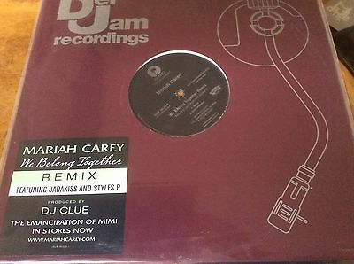 """Mariah Carey - We Belong Together - Remix, USA Promo only Double AA Sided 12""""."""