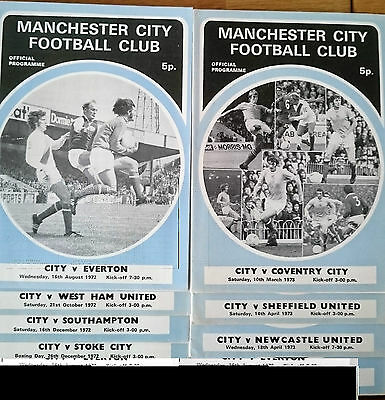 1972/73 Manchester City Homes x 9