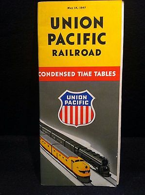 1947 UNION PACIFIC RAILROAD CONDENSED TIME TABLES, 33 pages EXCELLENT CONDITION