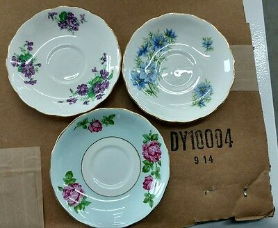 Lot of 3 assorted colclough plates.