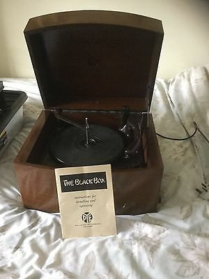 Collectable PYE Black Box Record Player in Working Order