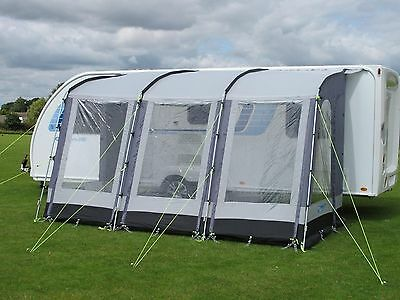Kampa Rally 390 Caravan Porch Awning Pearl Grey Used
