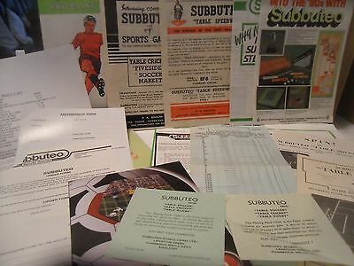 Subbuteo Various Booklets, Order Forms And Leaflets Unboxed.