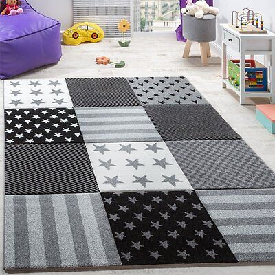 Grey Nursery Rug Grey Kids Room Carpet Soft Play Room Bedroom Mat Small Large XL