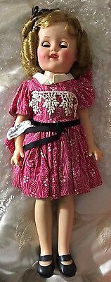 "14"" Shirley Temple by IDEAL w/tagged dress"