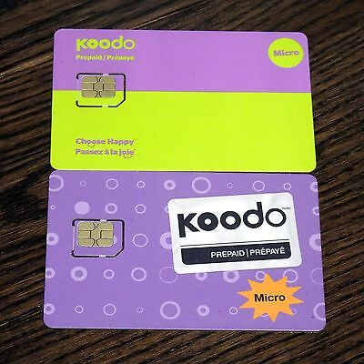 Brand New Koodo Mobile Prepaid micro SIM Card - $20 Activation Credit Included