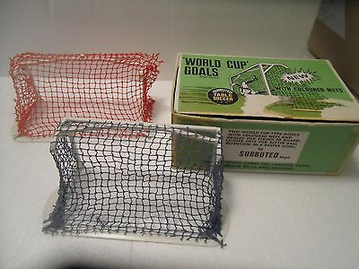 Subbuteo World Cup Goals With Coloured Nets Set C130 Boxed