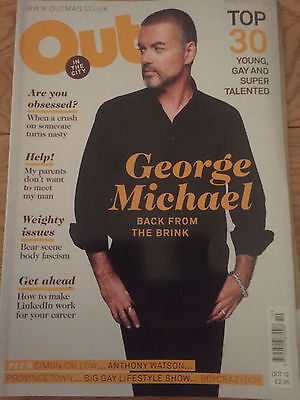 George Michael Rare Out In The City Magazine  Incl 3 Page Article Oct 2012
