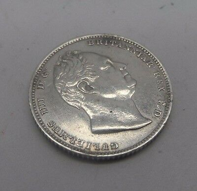 RARE Uncirculated William lll 1831  Milled Edge Sixpence Silver Coin No Reserve
