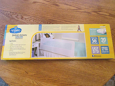 NEW Regalo Swing Down Extra Long Portable BED RAIL Easy No Tool Set Up Toddler