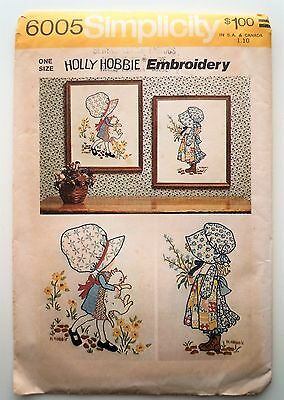 Vintage Simplicity  Pattern #6005 Holly Hobbie Embroidery