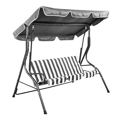 NEW Summer Garden Patio Lawn Chair Sun Lounger 3 Seat Swing Seat With Pads