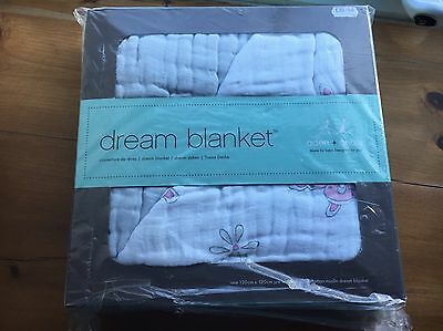 """BRAND NEW BOXED Aden + Anais Dream Blanket Muslin """"For The Birds"""""""