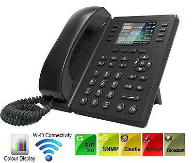 Brand New IP Phone 6 Line SIP Colour Display Wifi Connectivity IP Phone