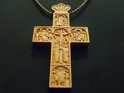 Christian Wooden Carved Priest Pectoral Cross