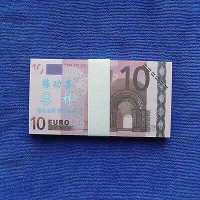 10 Euro 100pcs Paper Money Notes Training Collect Learning Banknotes