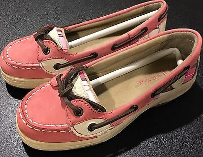 New Sperry Girls Pink Angelfish Youth New size 13.5 M