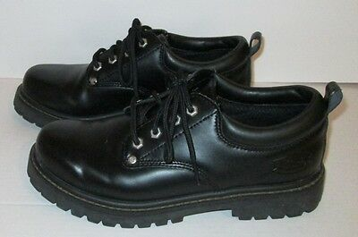 SKECHERS Mens Black Lace-up Oxford Alley Cats Casual Shoes Size 7