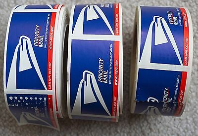 THREE ROLLS - USPS Eagle Logo Priority Mail Labels - Label 107R 1997