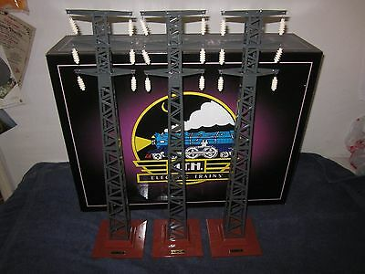 MTH 10-4012 Tinplate 94 Standard Gauge High Tension Towers Set of 3 Lionel Copy