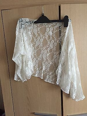 Ladies Ivory Lace Bolero