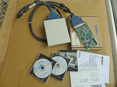 National Instruments NI PCI-6025E + cable 100 + SCB-100 + CDs