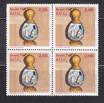 Brazil Stamps 1977 Mnh - Christmas - Popular Nativity Scene