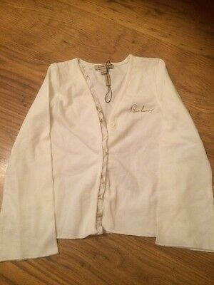 Girls White Burberry Cardigan 4-5 Years Brand New With Tags