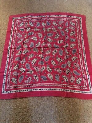 Silk Fuchsia Pink And Paisley Vintage Scarf
