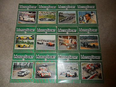 All 12 MOTOR SPORT Car Magazines From 1967