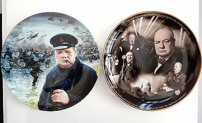 Sir Winston Churchill Wwii Commemorative Plates D-Day Landings Royal Doulton