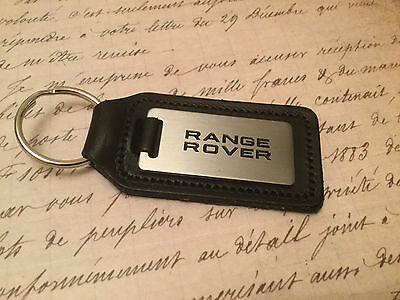 Range Rover Key Ring Etched And Infilled On Leather Sport Evoque