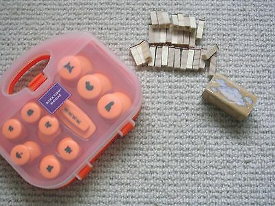 Set of Craft Punches + Alphabet Rubber Stamps