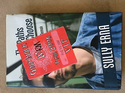 """Godsmack 2006 Backstage Pass & Sully Erna """"the Paths We Choose"""" Book"""