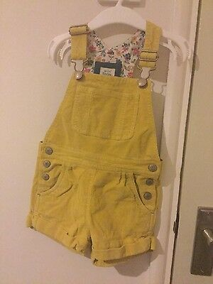 mini boden cord short dungarees 2-3