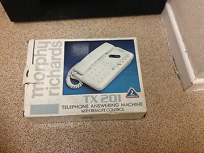Vintage Morphy Richards TX 201 Telephone Answering Machine with Remote Control