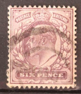 Great Britain VII 1911 6d Used Shade Not Checked